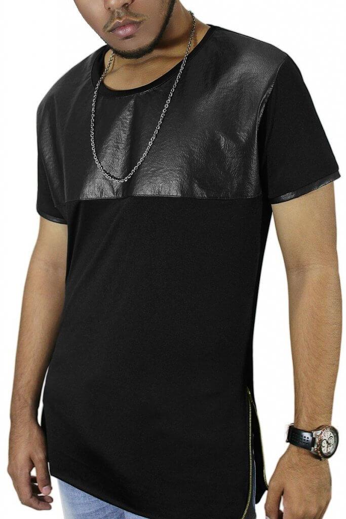 camiseta de cuero
