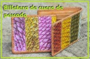 billetera de piel de pescado