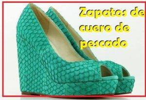 zapatos de piel de pez