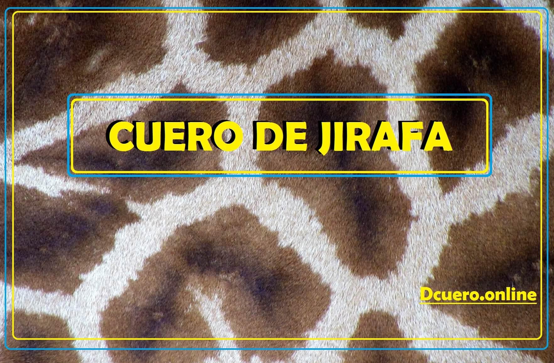 cuero de jirafa